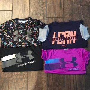 Youth under armour shirts size small